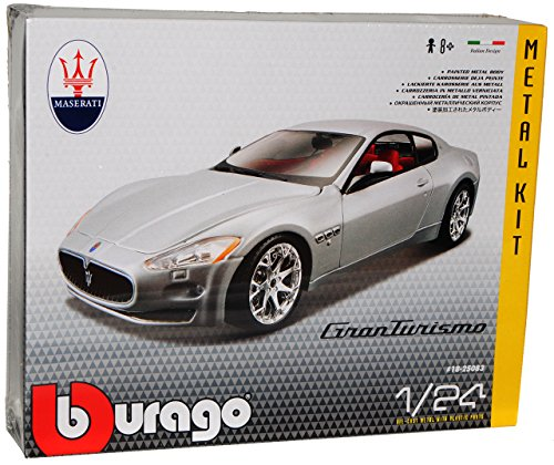 Bburago Maserati GranTurismo Coupe Silber Ab 2007 Bausatz Kit 1/24 Modell Auto