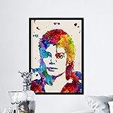 Nacnic Michael Jackson Aquarell Poster. Wasserfarbe Stil