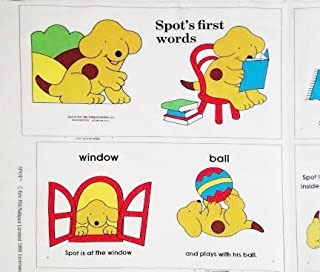 """""""Spot`s First Words"""" Puppy Fabric Book Panel - Officially Licensed (Great for Quilted Book, Quilting, Sewing, Craft Projects, Wall Hangings, Throw Pillows and More) 35"""" X 44"""""""