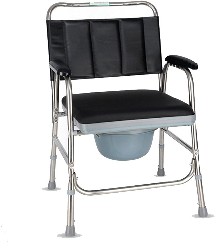 Folding Toilet Seat Elderly Thickened Stainless Steel Pregnant Woman Toilet Stool Stool Mobile Toilet