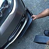 Asdomo - Protezione universale per paraurti e spoiler anteriore per auto, decorativa, resistente ai graffi, 2 pezzi