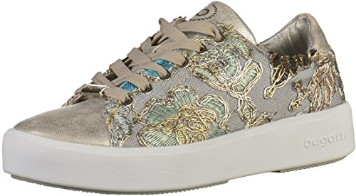 bugatti Damen 421407055969 Sneaker Low-top , Silber (Silver/ Multicolour 1381) , 39 EU