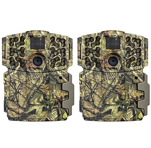 Moultrie No Glow Invisible 20MP Infrared Weatherproof Hunting Trail Game Camera - HD Images, 1080P Video Recording, and 70 Foot Range (2 Pack)