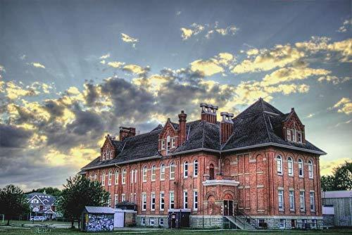 PJCNEW 1000 Puzzleteile Puzzles Königin Alexandra Schule In Edmonton, Alberta, Kanada Für Erwachsene Kinder