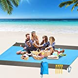 """Beach Blanket Oversized, 100"""" X89.7"""" SandProof Beach Mat for 4-8 Adults, Waterproof & Sandproof, Oversized Lightweight Outdoor Blankets for Travel, Camping, Hiking."""