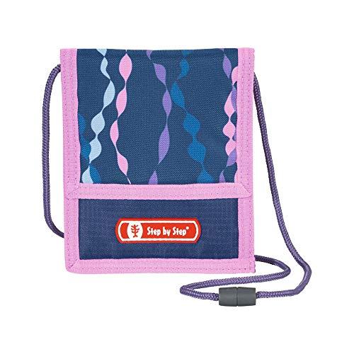 """Step by Step Brustbeutel """"Mermaid"""", blau/rosa, mit Sichtfenster, Münzfach mit Reißverschluss, Schlüsselbefestigung, zum Umhängen, für Mädchen ab der 1. Klasse"""