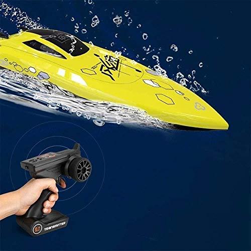 Deportes al aire libre Barco de control remoto grande de 2,4G Barco de alta velocidad sin escobillas refrigerado por agua Baterías múltiples Modelo opcional Barco de juguete acuático Vaporizador el