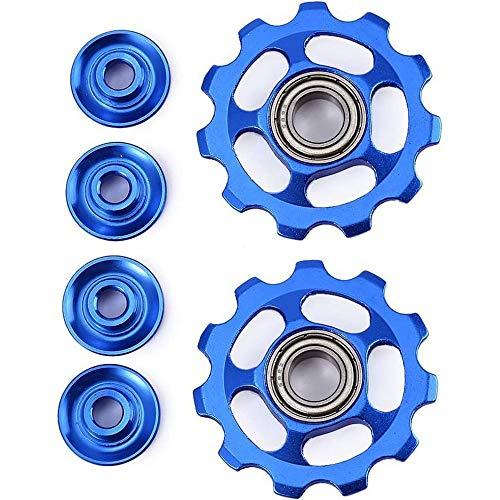 Lhbfcy Schaltwerk Fahrrad Riemenscheibe Schaltwerk Blaues Hinteres Aluminiumlegierung Schaltwerk Riemenscheibe Schaltröllchen Versiegelt Mit Rad Hinten Riemenscheiben Für Straße Mountainbike Fahrrad