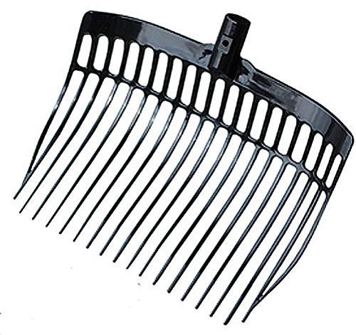 Bollengabel extra leicht Fast unzerbrechlich Flexible TOP Produkt stabil Farbe: schwarz Dunggabel Mistgabel Pferdedunggabel Mist Forke