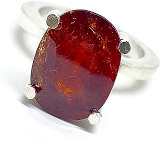 Grande e prezioso anello con prezioso Granato Spessartite naturale misura 14,6 mm x 10,7 mm di 9,51 carati. Anello.