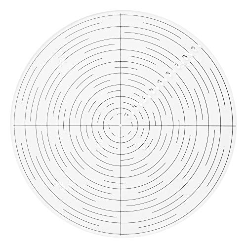 10' Round Center Finder Compass Clear Acrylic for Drawing Circles, Lathe Work and Woodturners. Ideal For Locating Center on Logs and General Stock Pieces Works Well on Round and Square Stock