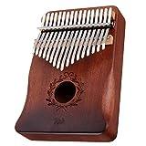 サムピアノ 17主要なガントレット親指ピアノマホガニーカリンバスウッドアコースティック楽器 指打楽器