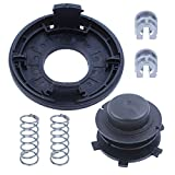 6. Adefol String Trimmer Replacement Parts Head Spool and Cover Cap 6pcs Kit for STIHL FS80 FS83 FS85 FS100 FS110 FS120 FS130 FS200 with Spring, Line Feed Eyelet Accessories