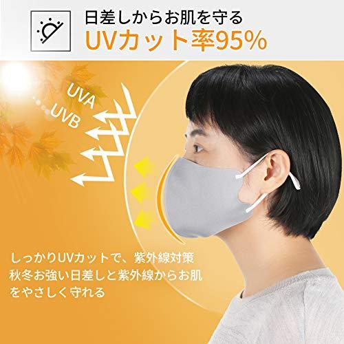 [Amazon限定ブランド]マスク5枚入り秋冬用暖かいマスク保温耳紐付けマスク調整できる洗えるマスク男女兼用通気性抜群紫外線対策花粉防寒FENQネイビー