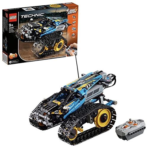 LEGO 42095 Technic Vehículo Acrobático a Control Remoto, Coche Teledirigido para Niños, Maqueta de Coche RC de Alta Velocidad