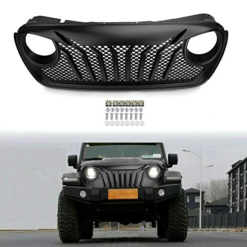 Usudu Newest Style Beast Angry Bird Mesh Front Bumper Grill Grille For 2018-2019 Jeep Wrangler JL