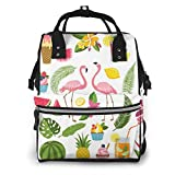NHJYU Bolsa de pañales, Large Capacity Waterproof Travel Ma-na-ger,baby Care Replacement Bag Versatile Stylish And Durable, Suitable For Mom And Dad,Summer Time Labels Set For Tropical Party Vector I