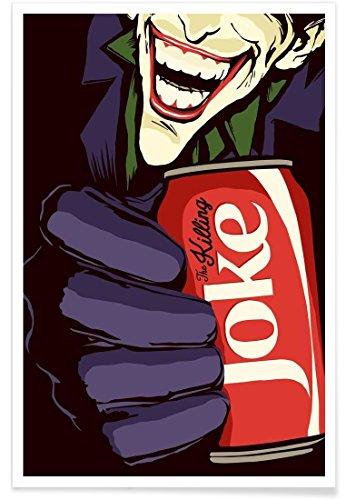 Juniqe® Affiche 40x60cm Pop Art Super héros & Personnages fictifs - Design Killing Joke (Format : Portrait) - Poster, Tirages d'art & Tableaux par des Artistes indépendants créé par Butcher Billy