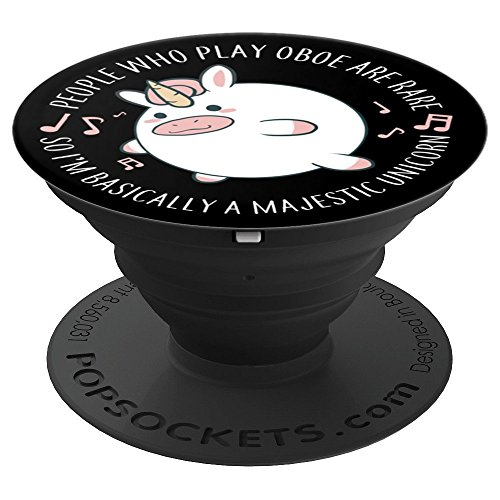 Oboe Player PopSocket Rare Unicorn Marching Band Musician Gi PopSockets Grip and Stand for Phones and Tablets