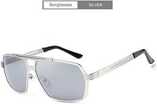Handu yifu Gafas De Sol Polarizadas para Hombres, Montura De Metal Rectangular Y Lentes con