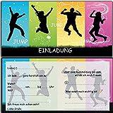 Einladung Jump Party Trampolin-Party Einladungskarten Kindergeburtstag Geburtstag Kinder Erwachsene Mädchen Jungs Karten