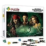 Rompecabezas para adultos 500 piezas Piratas del Caribe 2: Ataúd de recolección de almas Jack Sparrow Juego de rompecabezas de 500 piezas 52x38cm