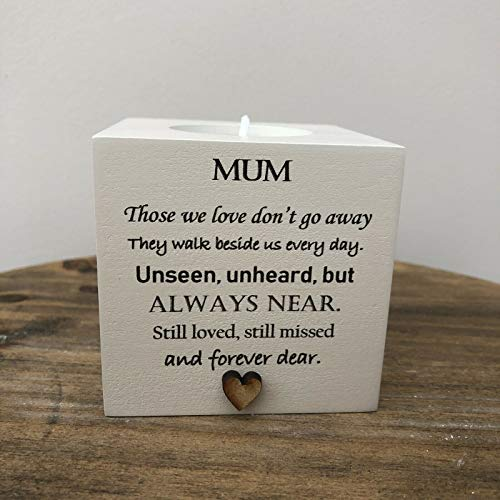 Personalised Candle in memory of MUM or any loved one MAM MOM MUMMY DAD NANA FRIEND HUSBAND MUM any name you want