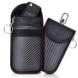 Lot de 2 Mini Etui anti RFID Clé Voiture Portable, Pochette anti RFID Cle Voiture, Etui Blocage RFID pour Clef Voiture Keyless, Protection Antivol anti Piratage de Télécommande Véhicule