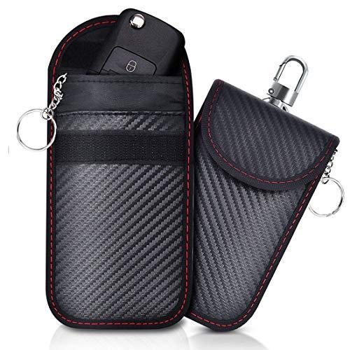 Lanpard Keyless Go Schutz Autoschlüssel[2 Pack],RFID Funkschlüssel Abschirmung Schlüsseltasche, Strahlenschutz Tasche, Signal Blocker, Schlüsseletui Schutzhülle Car Key Safe