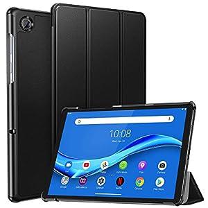 ZtopCase Funda para Lenovo Tab M10 FHD Plus 10.3 publicado en 2020, Ultrafina, Smart Cover de PU Piel, Compatible con Lenovo Tab M10 FHD Plus TB-X606F, Negro
