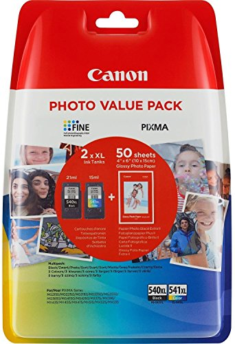 Canon High Capacity Ink Cartridge Value Pack PG-540XL,CL-541XL Genuine,  schwarz/farbige , XL
