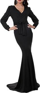 Women's Mermaid V-Neck Long Sleeve Halloween Party Maxi...