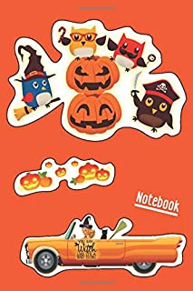 Notebook: halloween notepad,dot grid notebook 6x9 plant,notebook halloween pumpkin for kids,orange diary with lock,notebook black onyx,lined,soft ... notebook,halloween diary with lock and key