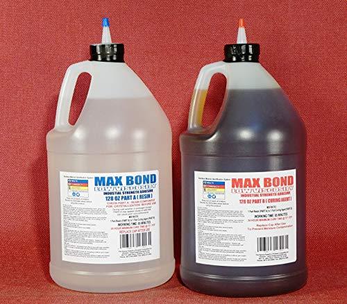 MAX Bond Low Viscosity Marine Grade Epoxy Resin 2 Gallon Kit for...