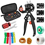 Krewey Garden Grafting Tools, Garden Pruning Tools Grafting Tapes Rubber and Tag Card, Plant Branch Vine Fruit Tree Cutting Tool Kits Scissors