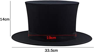 WSNMING Folding Top Hat-Magician's Collapsible Black Top Spring Hat Magic Trick Essential Prop Stage Accessories Gimmick
