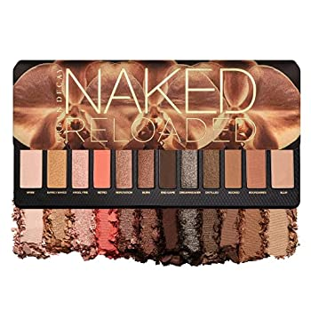 Urban Decay Naked Reloaded Eyeshadow Palette 12 Universally Flattering Neutral Shades - Ultra-Blendable Rich Colors with Velvety Texture - Set Includes Mirror