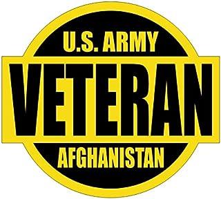US ARMY Veteran Afghanistan Hard Hat / Helmet Sticker Decal Label Emblem
