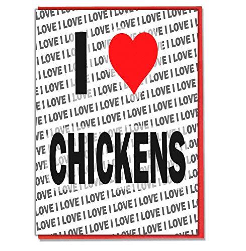 Ik hou van kippen - wenskaart - Verjaardagskaart - Dames - Heren - Dochter - Zoon - Vriend - Echtgenoot - Vrouw - Broer - Zuster