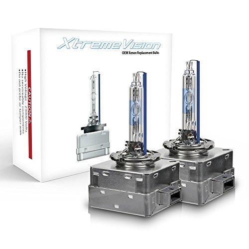 Xtremevision AC HID OE Xenon Replacement Bulbs - D1S / D1R / D1C - 10000K Dark Blue (1 Pair) - 2 Year Warranty (Metal Base)