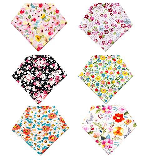 Pet Show 6 baberos bandana de algodón triángulo cabeza bufandas trajes accesorios lavables para fotos pequeños y medianos gatos 6 colores para niños y niñas