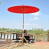 MADHEHAO Parasol de Parapluie en Papier huilé 2M, Parasol en Bambou, Parapluie de Jardin étanche, adapté aux centres commerciaux, Accessoires de Danse, Photographie, Salons de thé