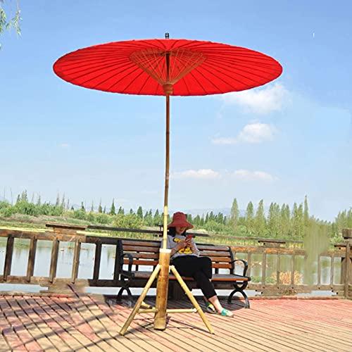 MADHEHAO 2M Oil-Paper Umbrella Parasol, Bamboo Sunshade Umbr