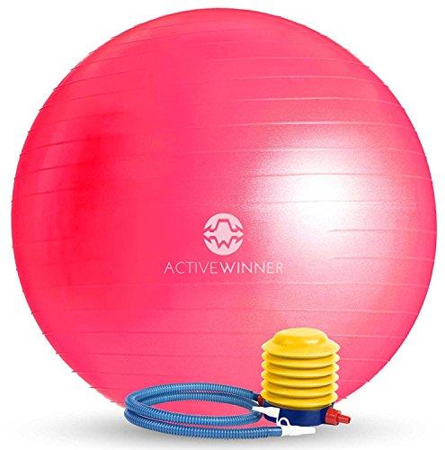 Active Winner バランスボール 65/55cm アンチバースト 分厚い 滑り止め加工 フットポンプ付 ヨガ ピラティ...