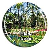 Weekino Palm Grove Elche España Imán de Nevera Cristal 3D Cristal Viaje de la Ciudad Recuerdo de Viaje de Viaje Regalo Fuerte Etiqueta Engomada del refrigerador