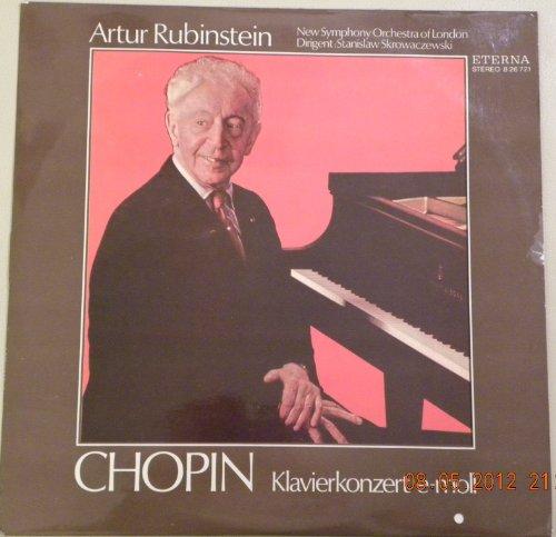 Chopin. Klavierkonzert e-moll. Konzert Nr. 1 für Klavier und Orchester. Artur Rubinstein. New Symphony Orchestra of London. Vinyl LP.