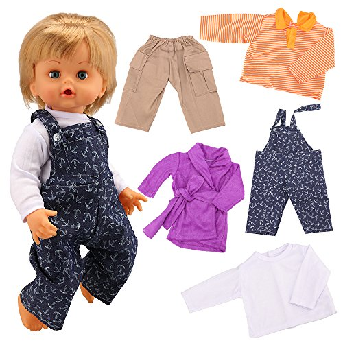 Miunana Abiti Vestiti Tute per Cicciobello Bambola (3 Abiti)