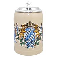 Le chope à bière la plus vendue. Ramenez un morceau de Bavière à la maison. Un incontournable pour les fans du bel État libre. Chope en grès avec le blason bavarois. Les lions et la couronne sont les emblèmes de la Bavière. Un classique intemporel à ...