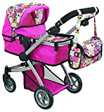 Doll Strollers Pro Deluxe Doll Stroller with Swiveling Wheels, Adjustable Handle...