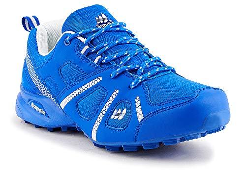 Fusskleidung Herren Sportschuhe Neon Laufschuhe Runners Fitness Gym Turnschuhe Blau Weiß EU 41